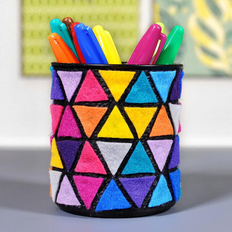 How To Make a Felt Pencil Holder