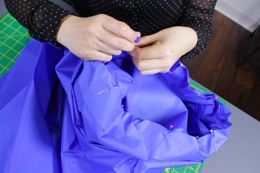 How to Make a Rain Poncho - Attach the hood to the poncho