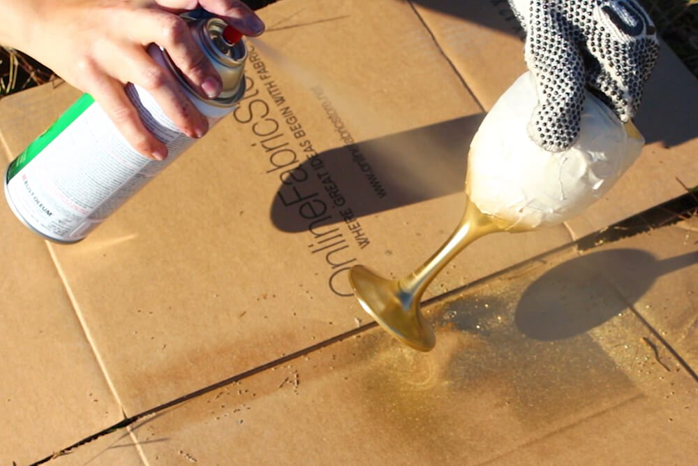 6 Easy Rust-Oleum Projects - Wine Goblet