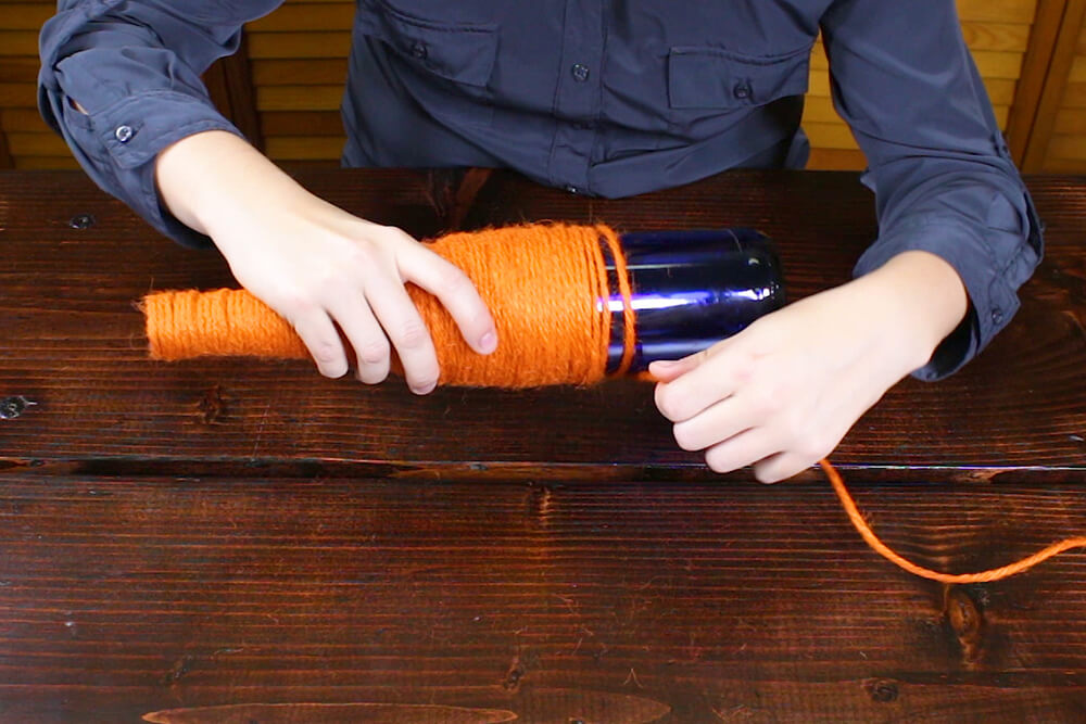 4 Easy Fall Table Decorations - Twine Bottle