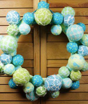 How To Make a Fabric Ball Wreath
