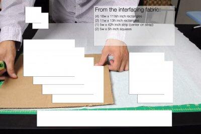 How to Make a Messenger Bag - Measure & cut the fabric