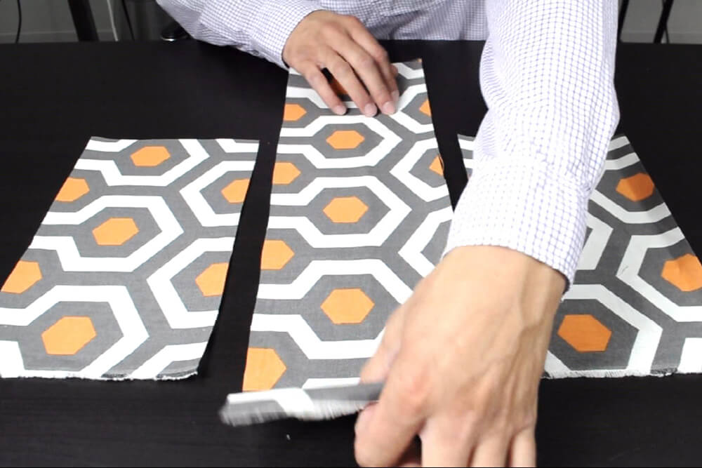 How to Make a Messenger Bag - Assemble the front panel