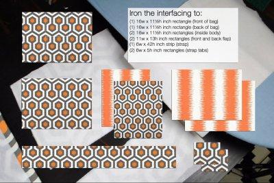 How to Make a Messenger Bag - Fuse the interfacing