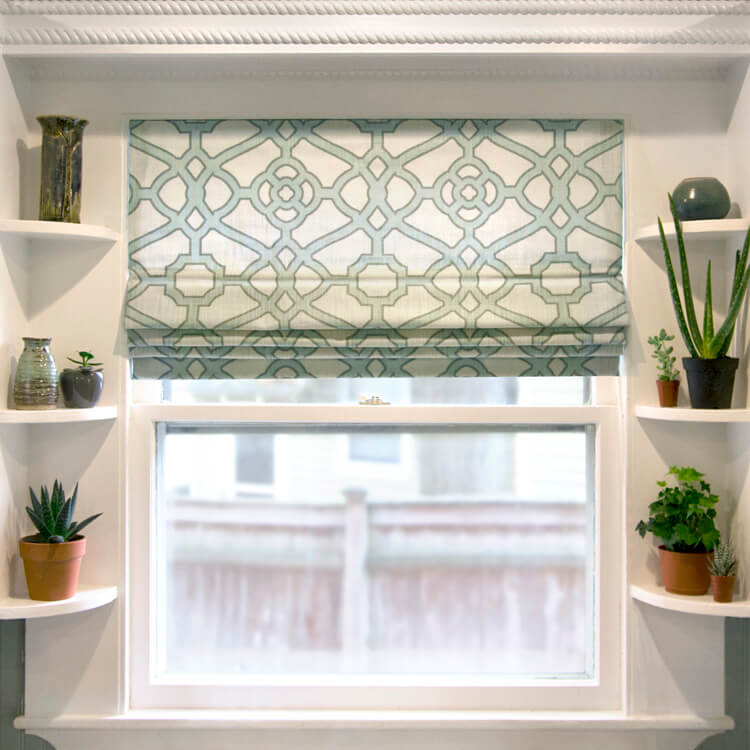 How to make a roman shade ofs maker 39 s mill for Pictures of roman shades on windows