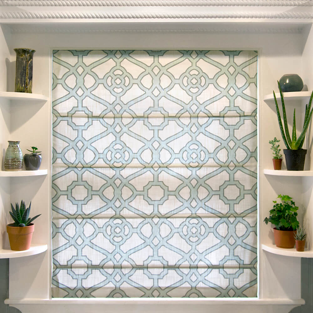 How to Make a Roman Shade - Finished