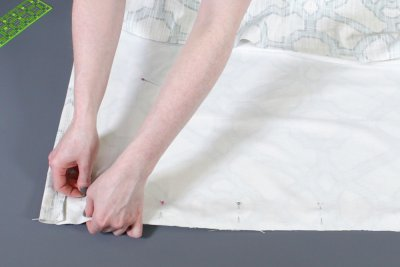 How to Make a Roman Shade - Sew the fabric together