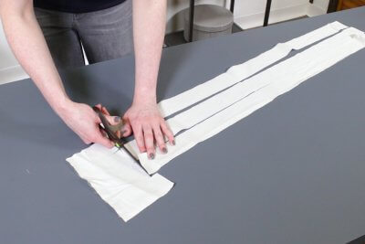 How to Make a Roman Shade - Make pockets for the dowels