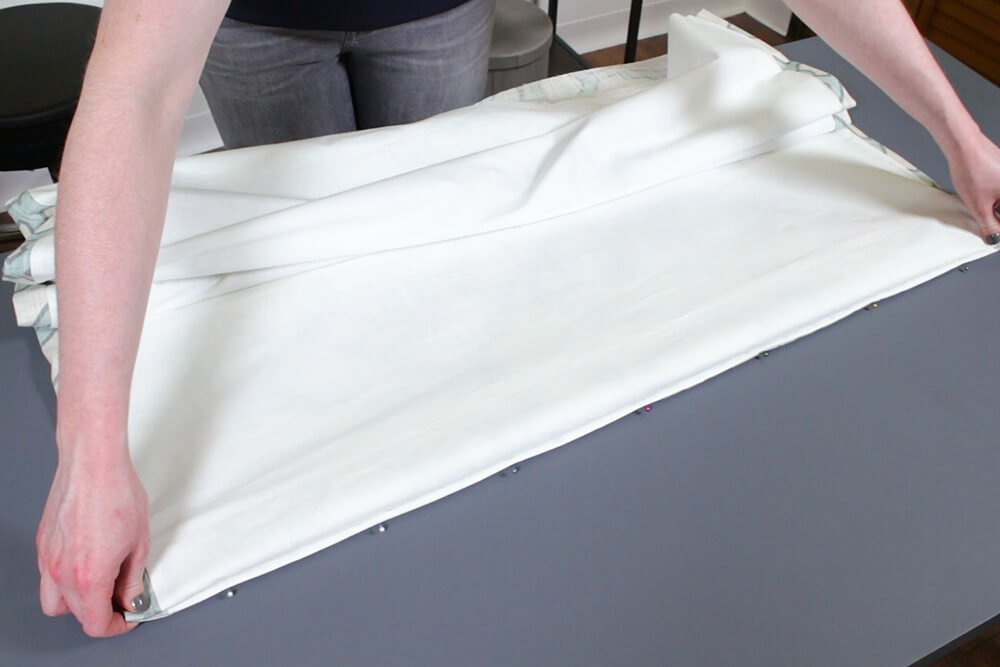How to Make a Roman Shade - Hem the bottom