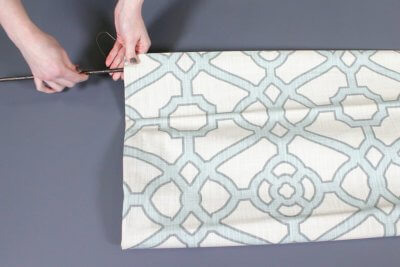 How to Make a Roman Shade - Sew on the rings & insert the rod