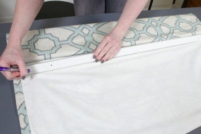 How to Make a Roman Shade - Attach the board