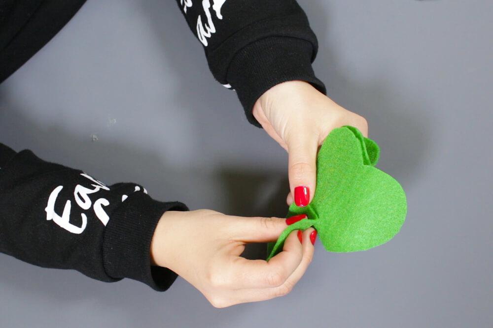 How to Make a Felt Shamrock - Sew and glue together