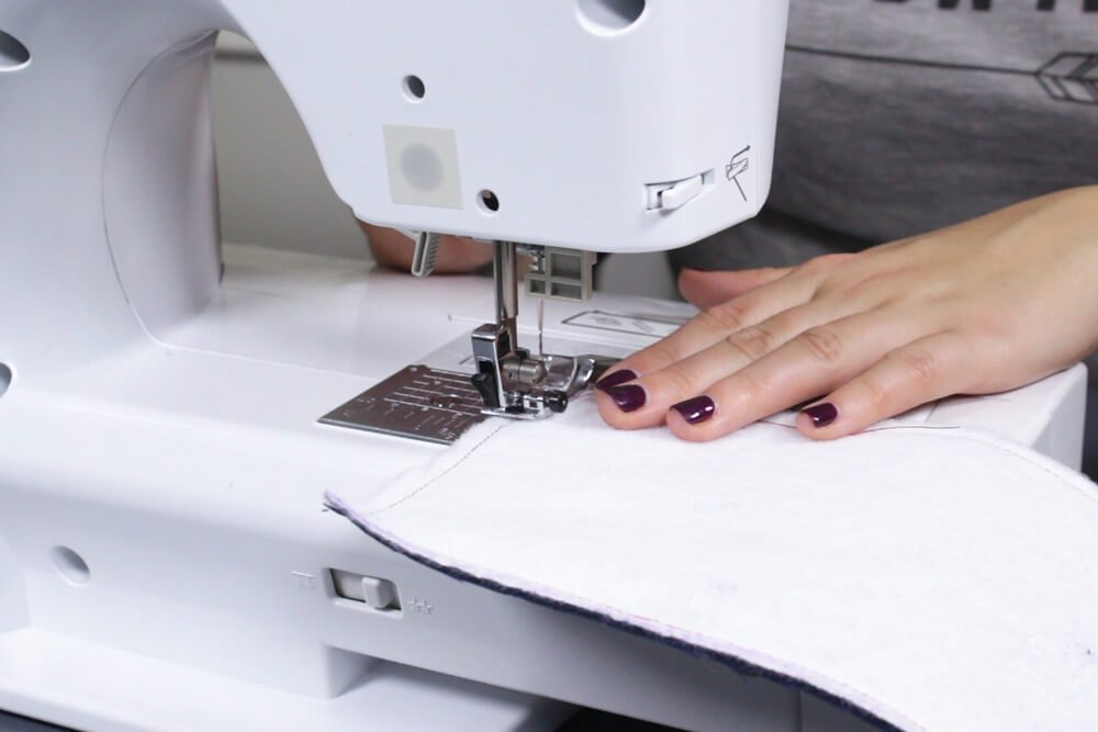 How to Make a Fabric Koozie - Fuse and stitch the interfacing