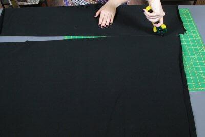 How to Make a Shag Rug - Cut and sew the rug base