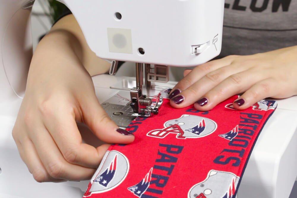 How to Make a Fabric Koozie - Stitch the koozie
