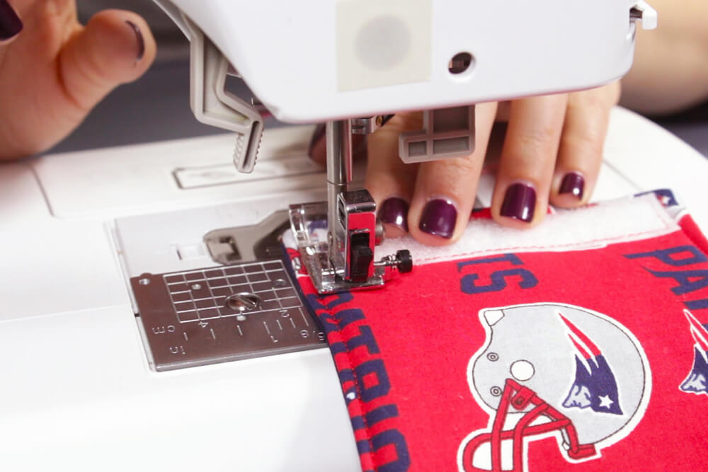 How to Make a Fabric Koozie - Attach the Velcro