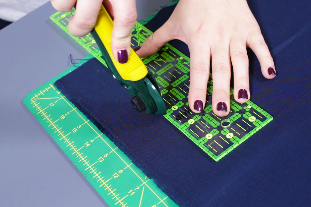 How to Make a Fabric Koozie - Measure and cut the fabric