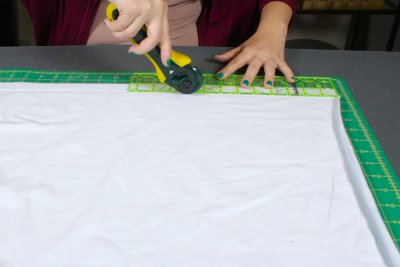 How to Make a No Sew Jersey Scarf - Measure and cut the fabric