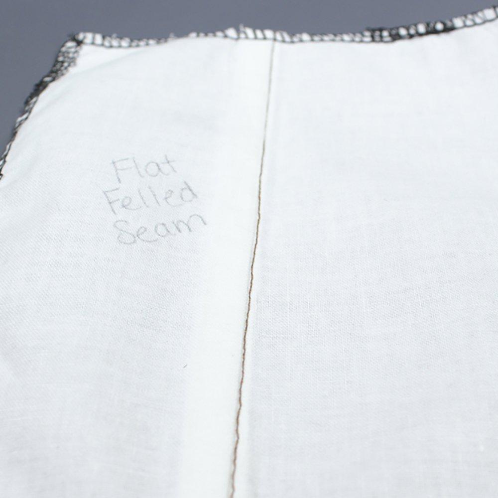 How To Sew a Welt Seam & Flat Felled Seam - Finished Flat Felled Seam