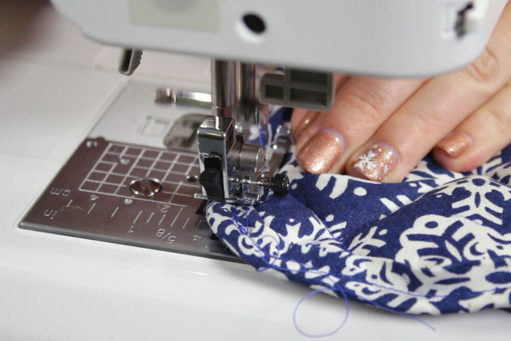 How to Make Fabric Coasters - Stitch the bias tape