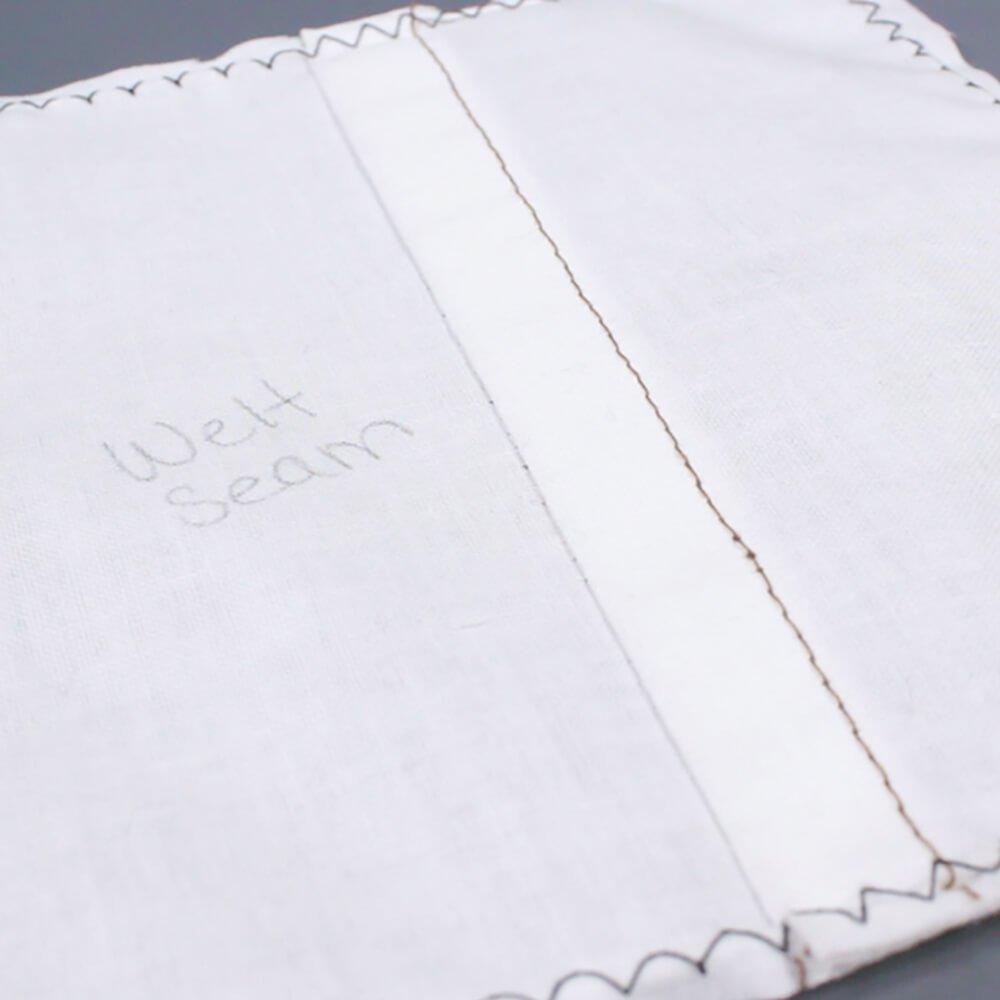 How To Sew a Welt Seam & Flat Felled Seam - Finished Welt Seam