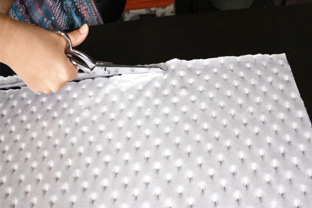 Cutting Minky Fabric