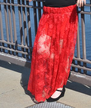 How to Make a Lace Maxi Skirt