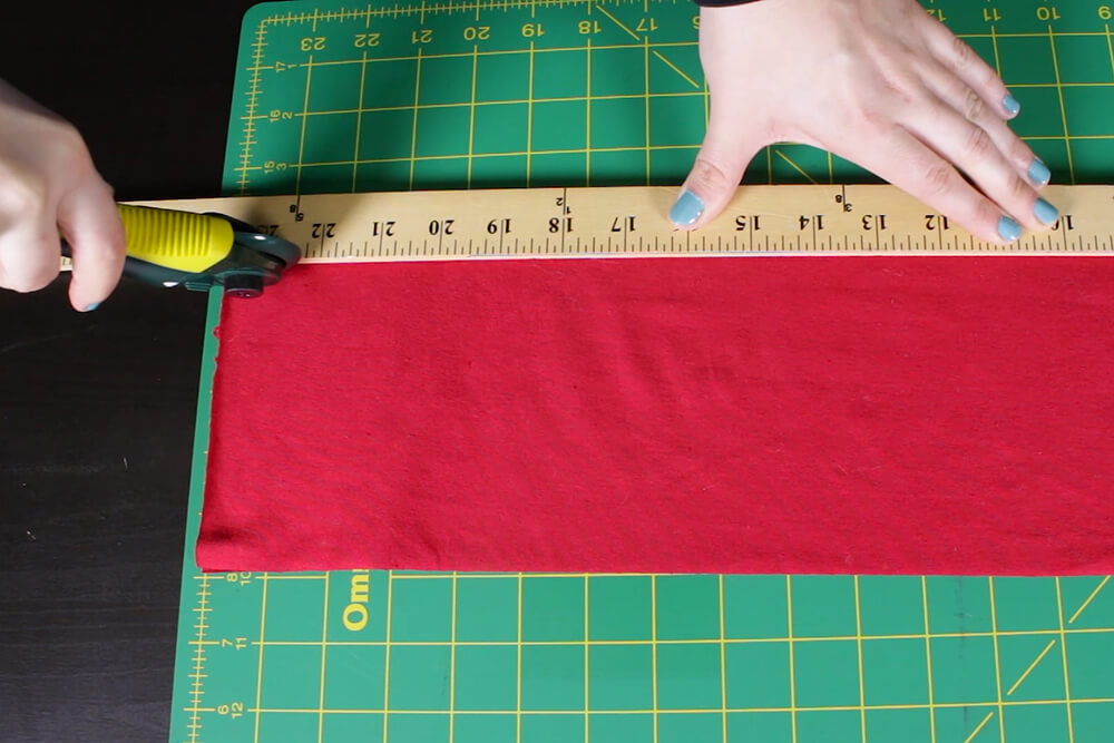 How to Make Ruffles - Cut strips of fabric