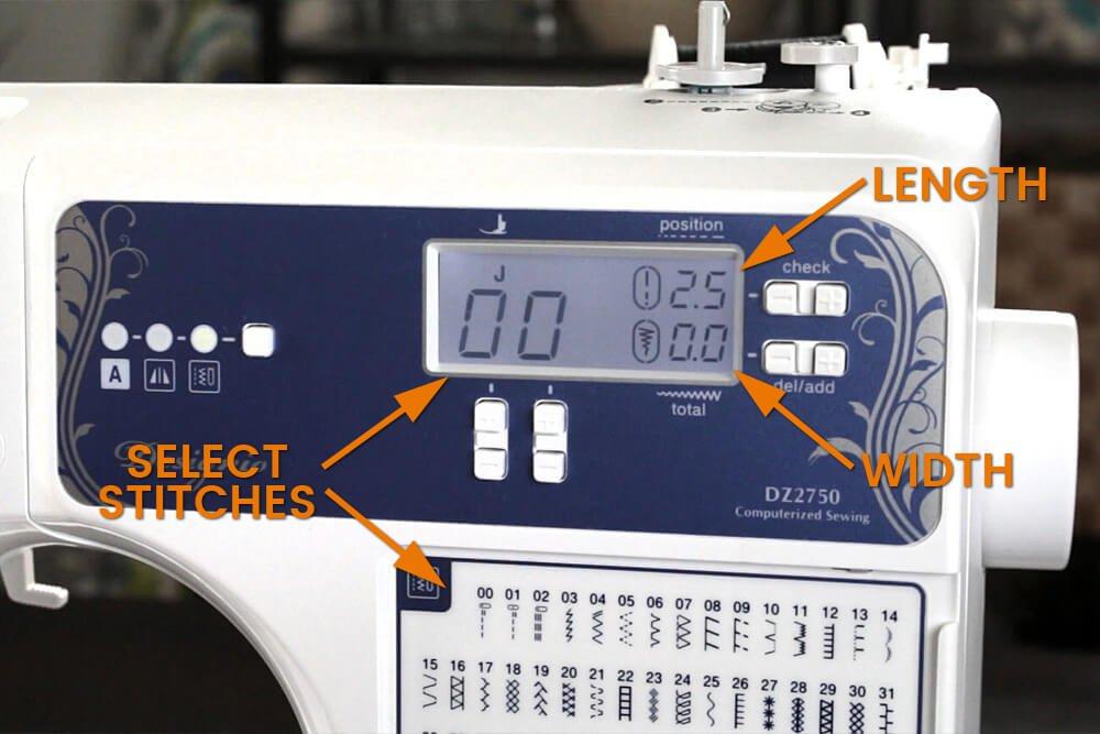 Sewing Machine Basics - Select a stitch
