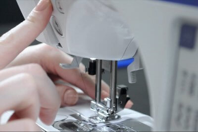 How to Sew a Straight Stitch - Raise the needle