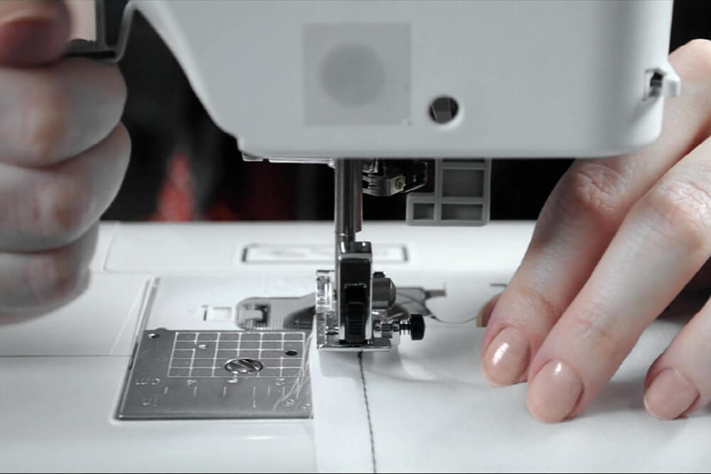 How to Sew a Straight Stitch - Raise the presser foot