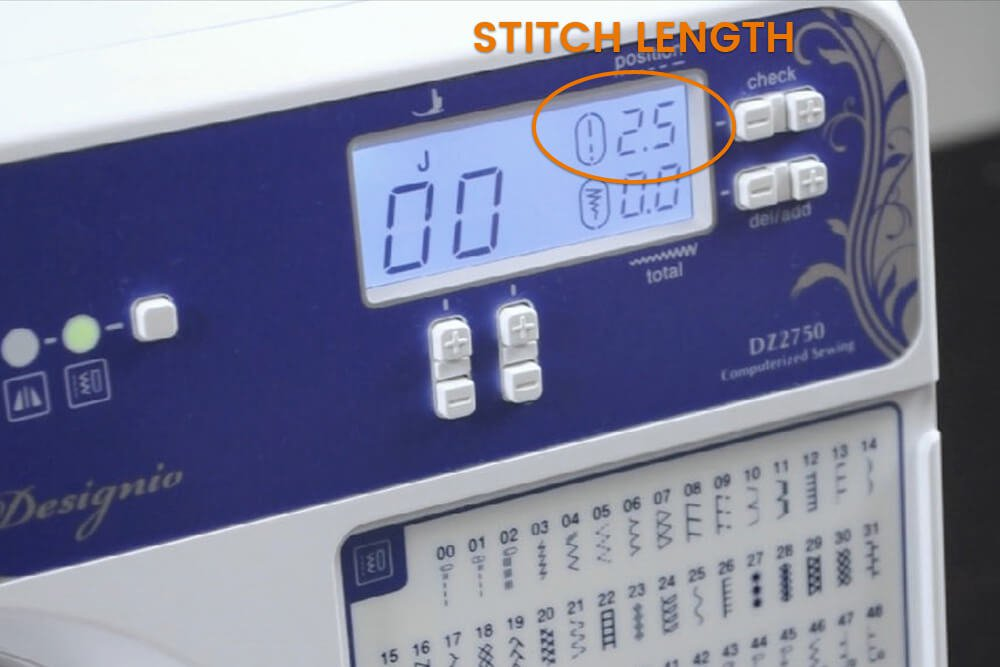 How to Sew a Straight Stitch - Stitch length