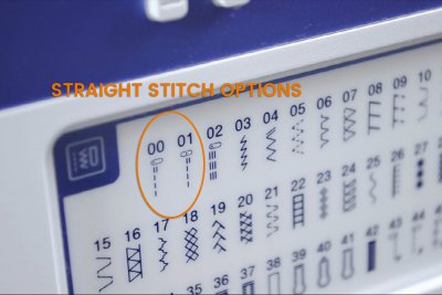 How to Sew a Straight Stitch - Select a straight stitch