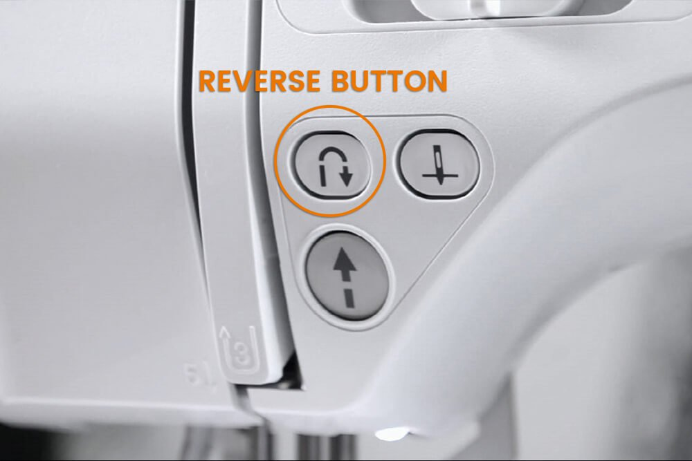 How to Sew a Straight Stitch - Reverse button