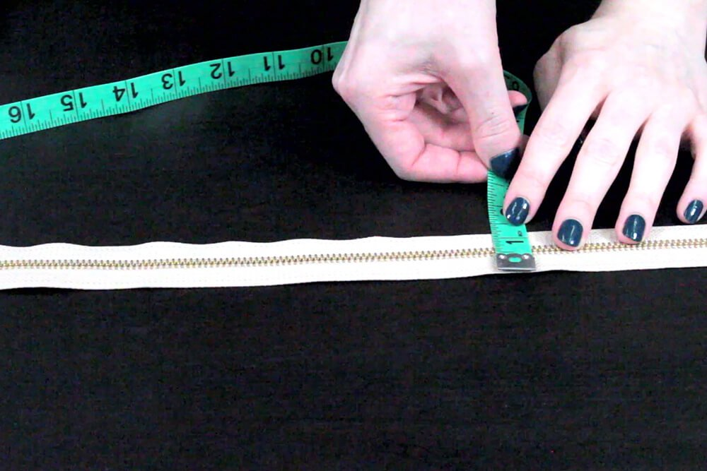 How to Sew an Upholstery Zipper - Measure the width of the zipper