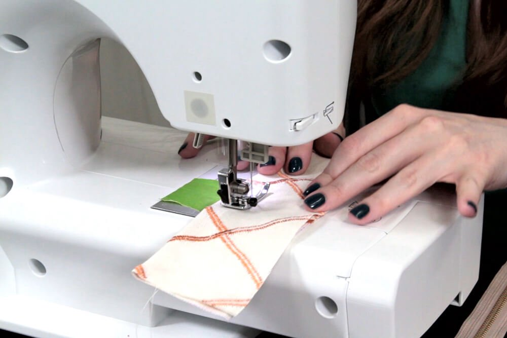 How to Sew an Upholstery Zipper - Sew down the length on the folded side