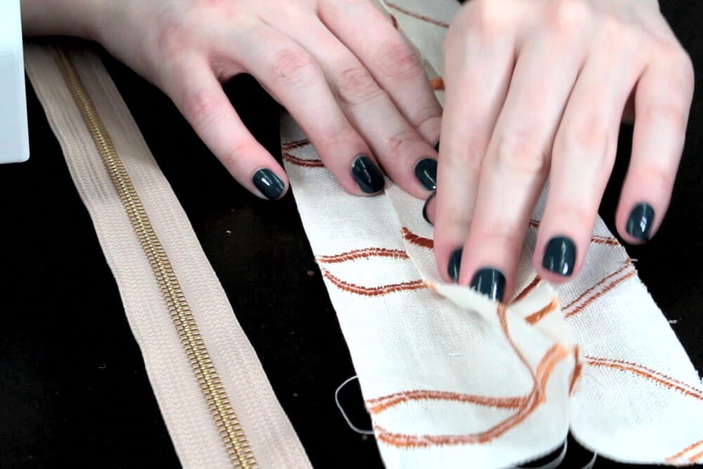How to Sew an Upholstery Zipper - Open up the seam