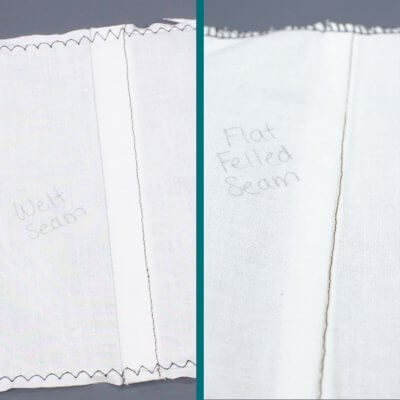 How To Sew a Welt Seam & Flat Felled Seam