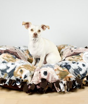 How To Make a No Sew Fleece Dog Bed