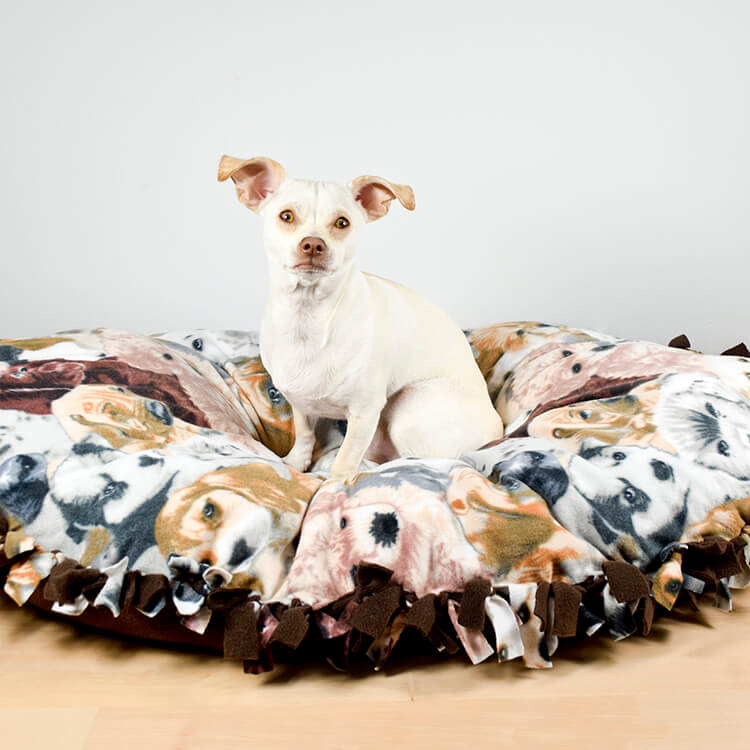 How To Make a No Sew Fleece Dog Bed