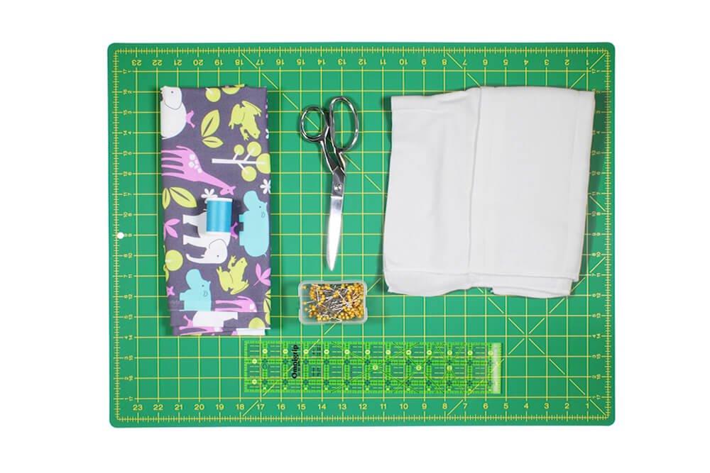 How to Make a Burp Cloth - Materials
