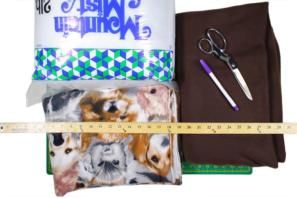 How to Make a No Sew Fleece Dog Bed - Materials