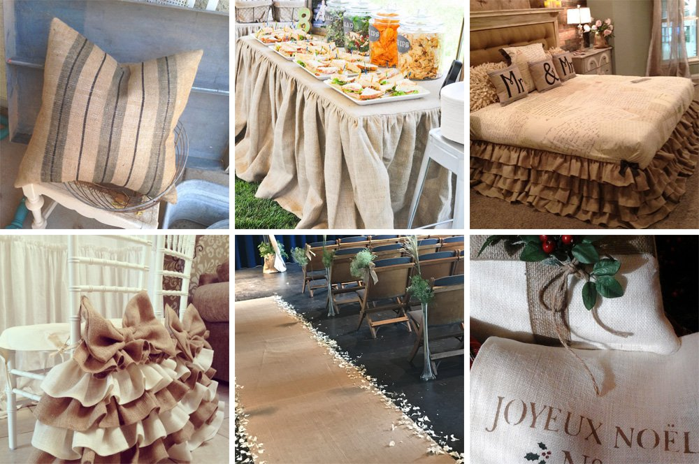 Burlap Projects By Customers