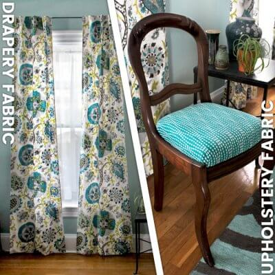 Drapery Fabric vs. Upholstery Fabric