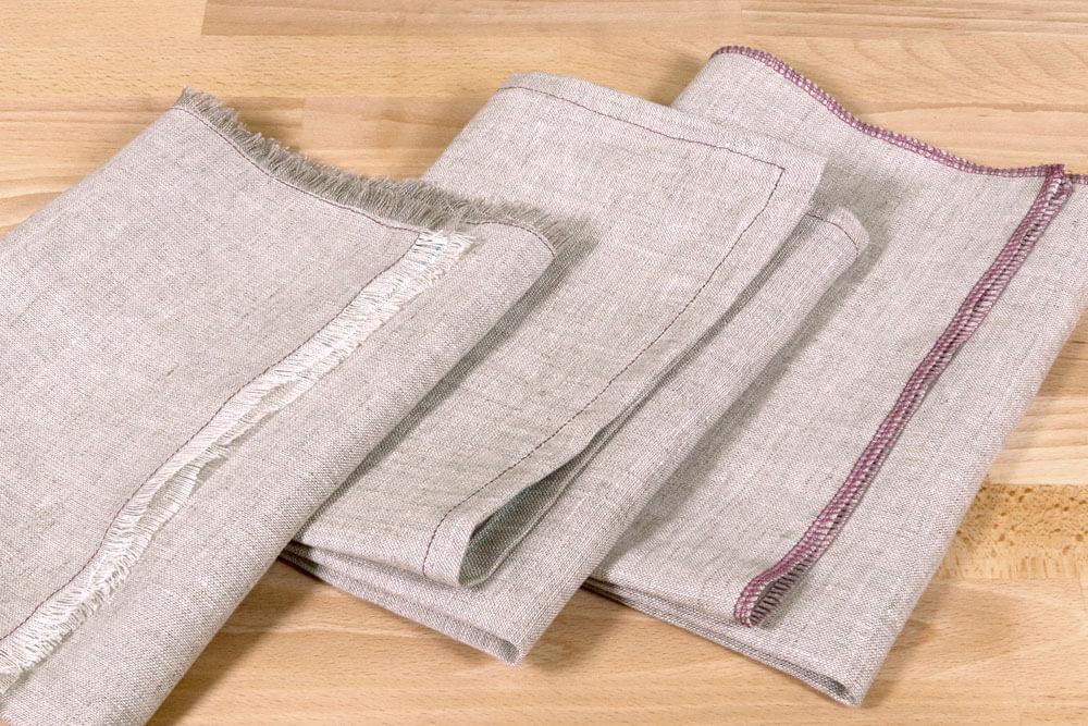 Linen napkins 3 ways