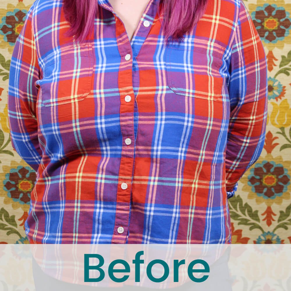 How to Adjust Buttons on a Button Down Shirt - Before
