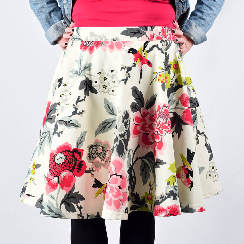 How to Make a Circle Skirt - Finished