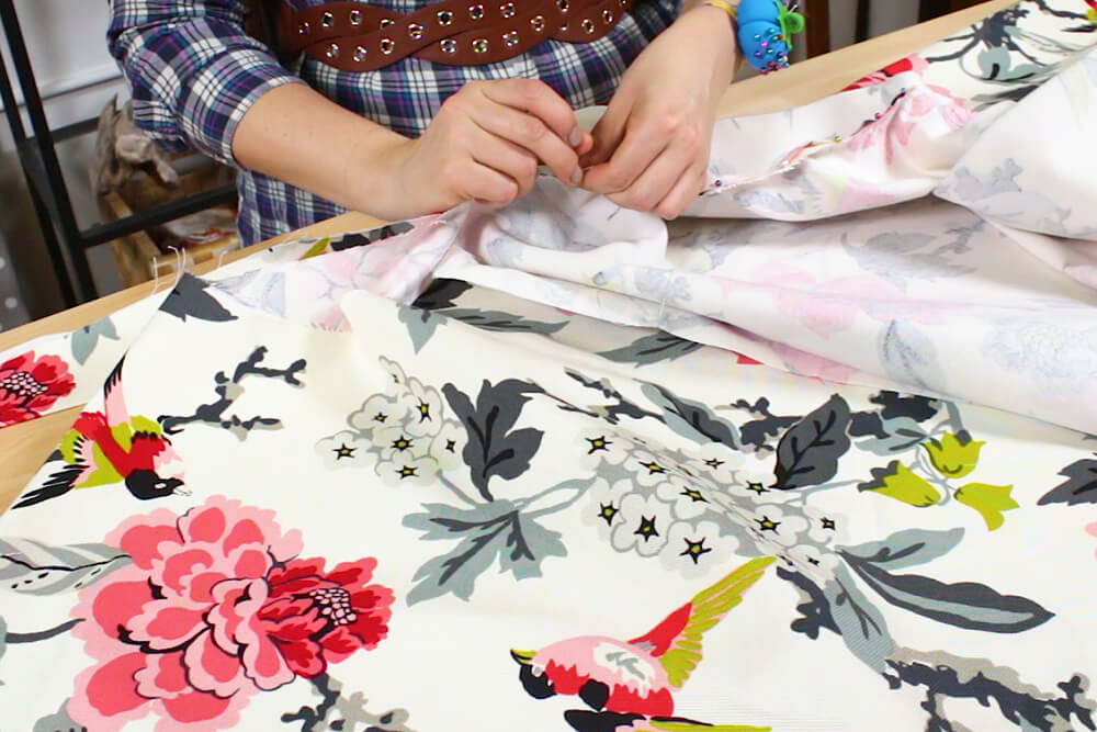 How to Make a Circle Skirt - Cut and attach the waistband