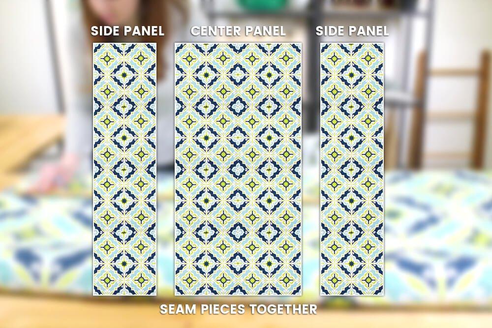Duvet Cover - Center and side panels