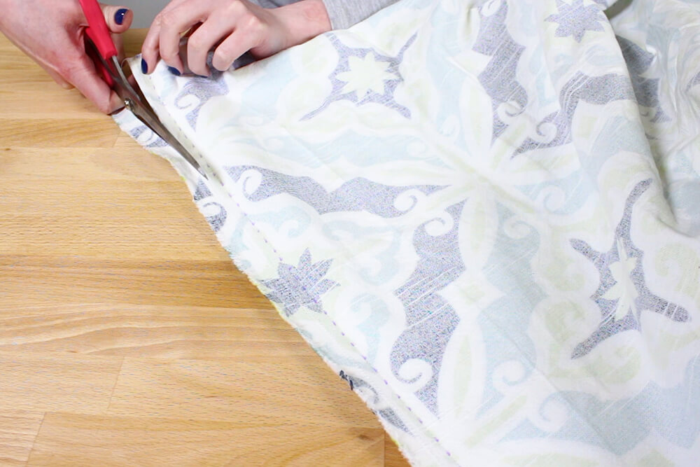 Duvet Cover - Cut off extra fabric